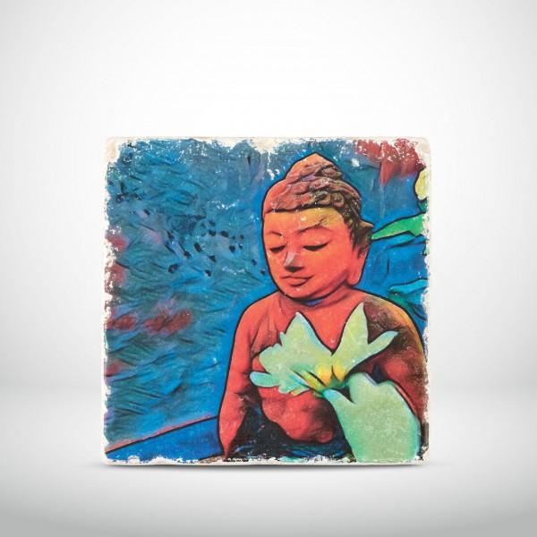 Marmorkachel Buddha Pop Art