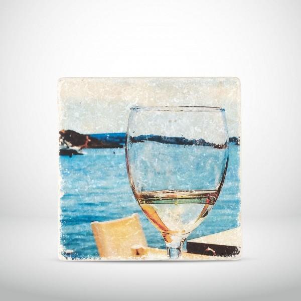 Marmorkachel Weißweinglas