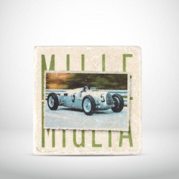 Marmorkachel Autorennen Mille Miglia grün