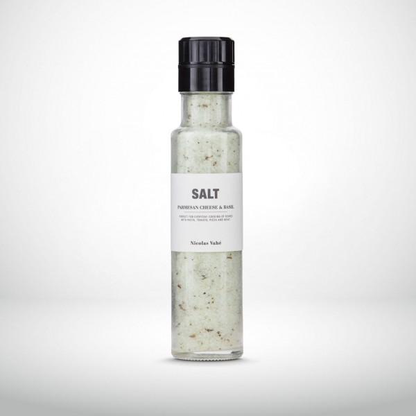 Nicolas Vahé Glasmühle Salz mit Parmesan und Basilikum 320g