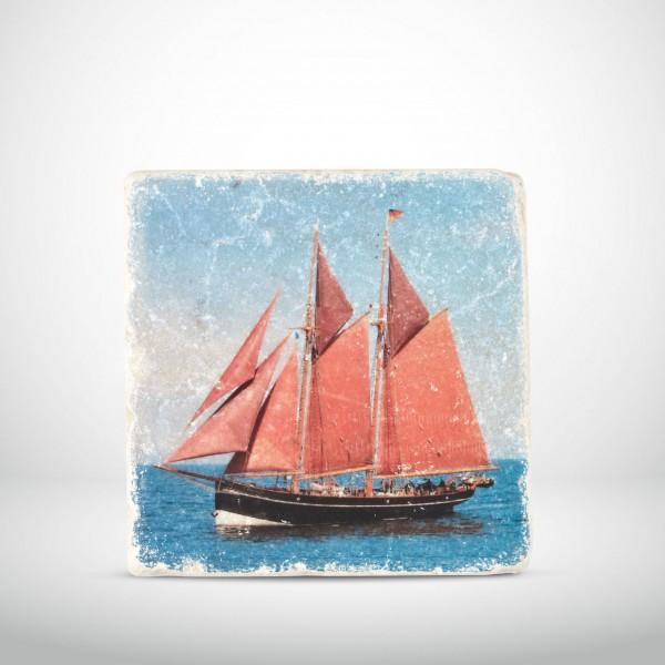 Marmorkachel Segelschiff