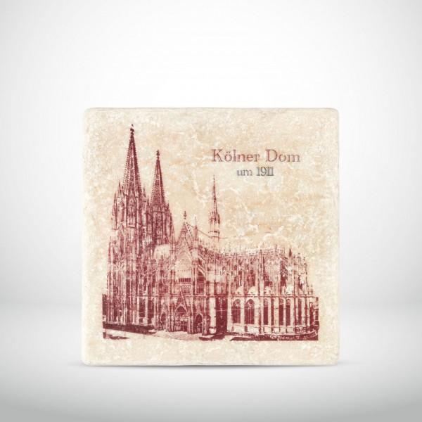 Marmorkachel Kölner Dom um 1911 Seitenansicht rot