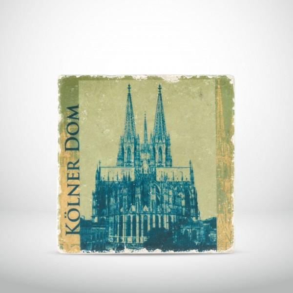 Marmorkachel Kölner Dom Pop Art grün
