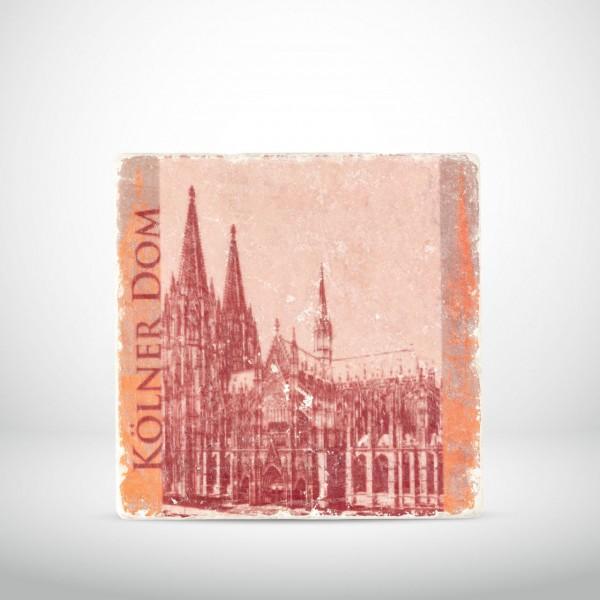 Marmorkachel Kölner Dom Pop Art rot